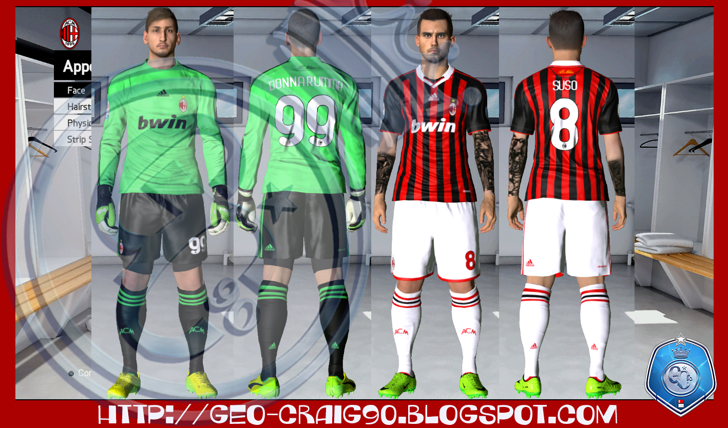 PES-MODIF: PES 2017 AC Milan Season 2009-10 HD By Geo_Craig90