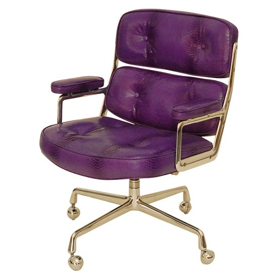 Purple Leather Office Chair Keilhauer
