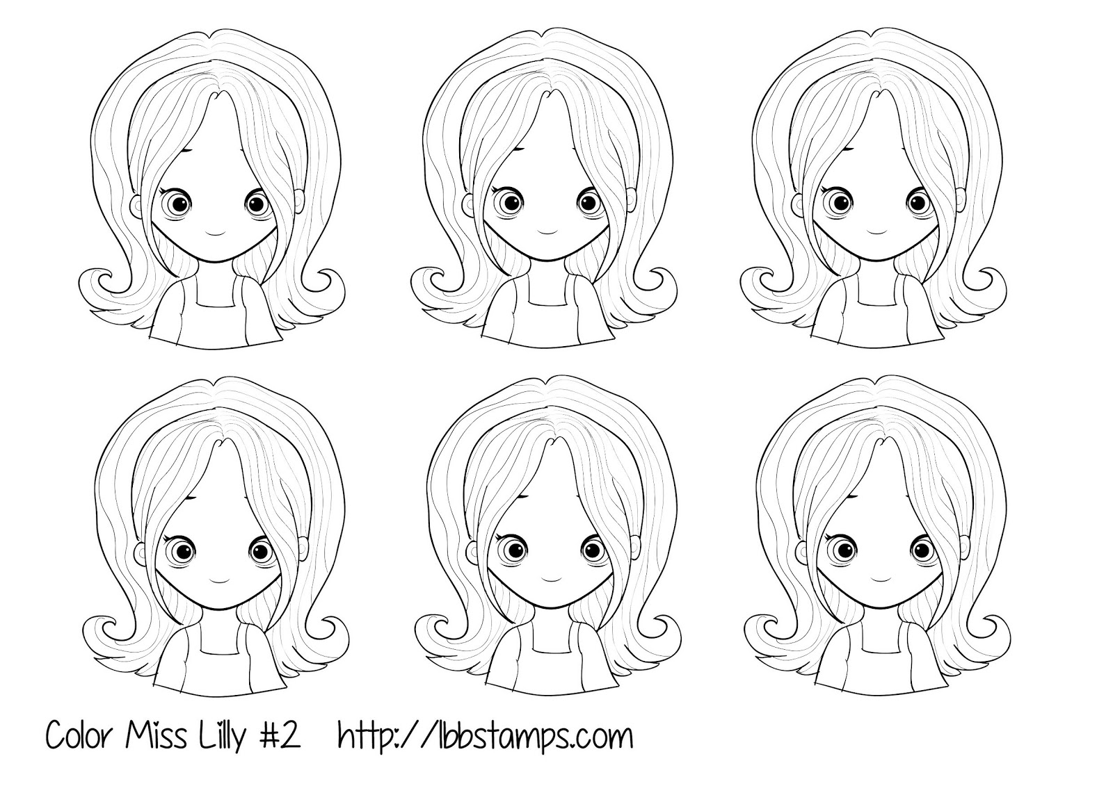 Little Blue Button Stamps: Free templates for copic coloring