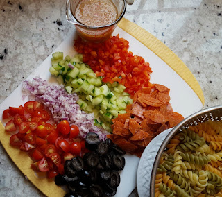 The Colorful Italian Pasta Salad Ingredients