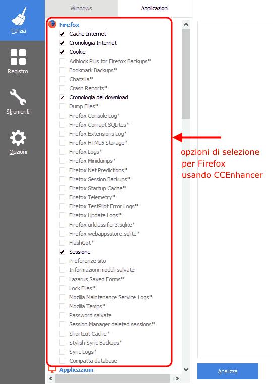 CCleaner - Firefox+CCEnhancer