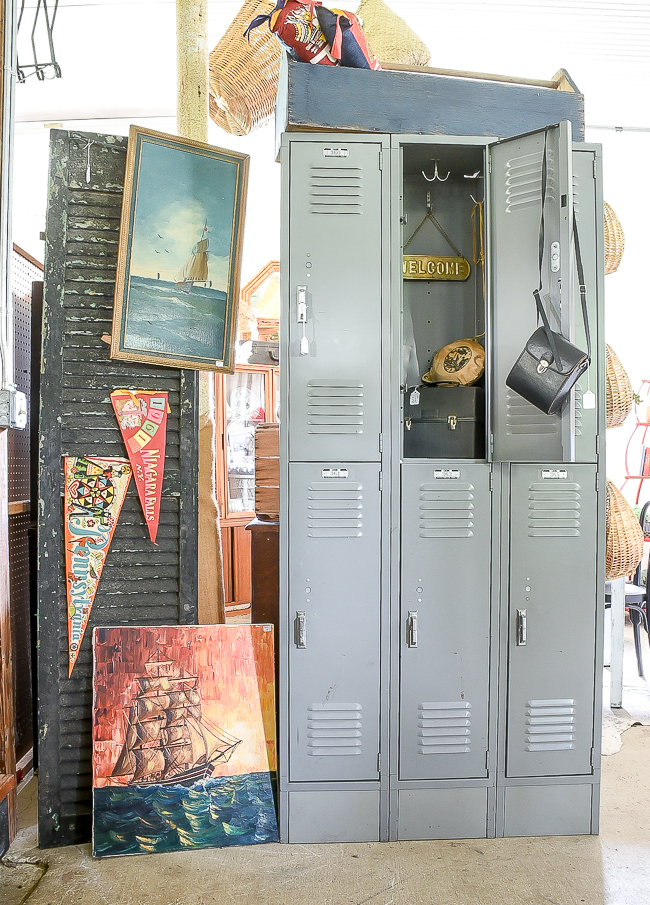 Lyon lockers and vintage shutters