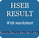 HSEB Result With Marksheet Check Online