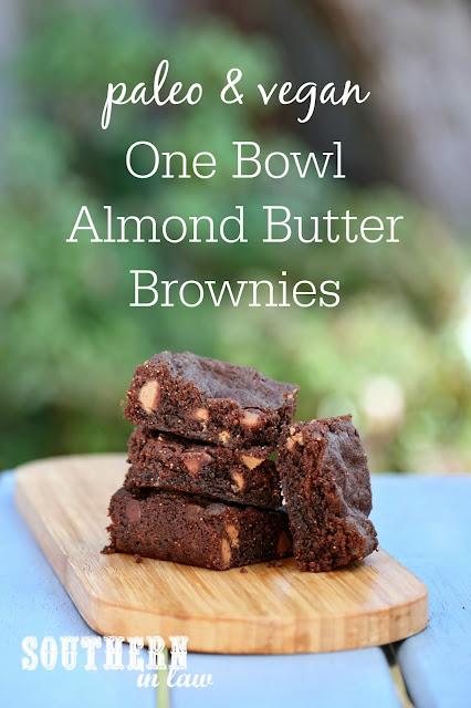 Paleo and Vegan Almond Butter Brownies Recipe - gluten free, vegan, paleo, egg free, dairy free, sugar free, healthy, clean eating dessert recipe, flourless, grain free brownies
