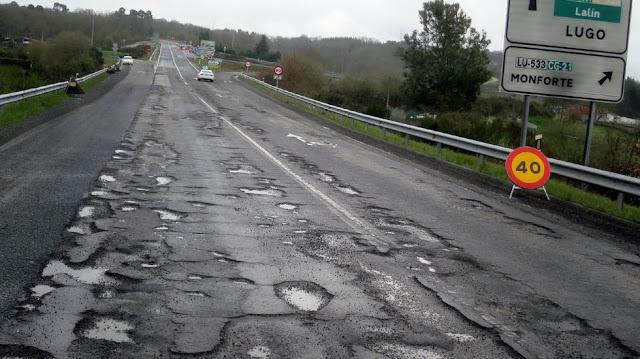 Carretera baches