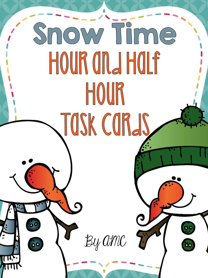 http://www.teacherspayteachers.com/Product/Telling-Time-Task-Cards-to-the-Hour-and-Half-Hour-1653544