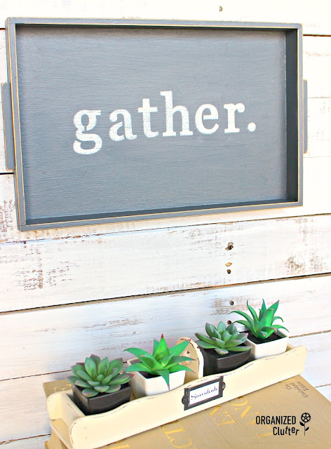 Thrift Shop Cracker Tray for Dollar Tree Succulents/$5 Decor organizedclutter.net