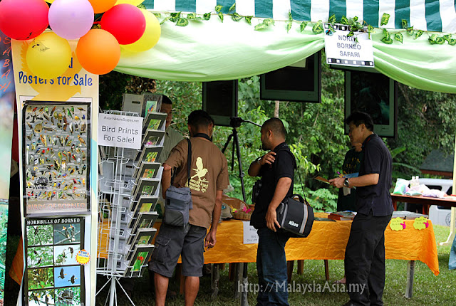 Booths at Borneo Bird Festival