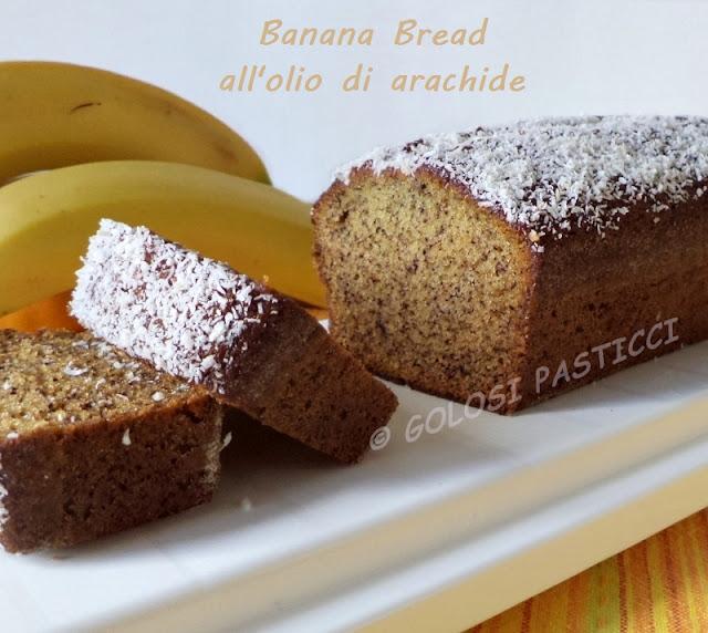 banana bread all'olio di arachide