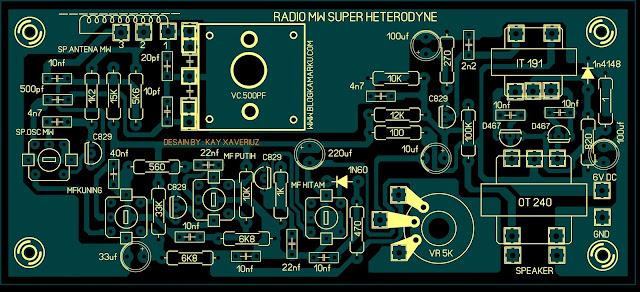 Cara membuat radio penerima MW Super Heterodyn