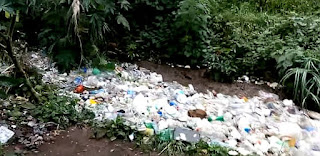 Chimaltenango, Guatemala, river of trash