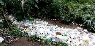 Chimaltenango, Guatemala, river of trash