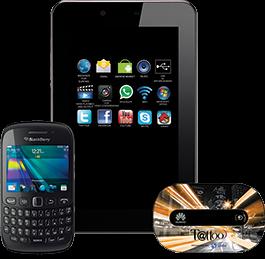Skyworth S73 tablet, Blackberry Curve 9220 and Mobile Pocket Wi-