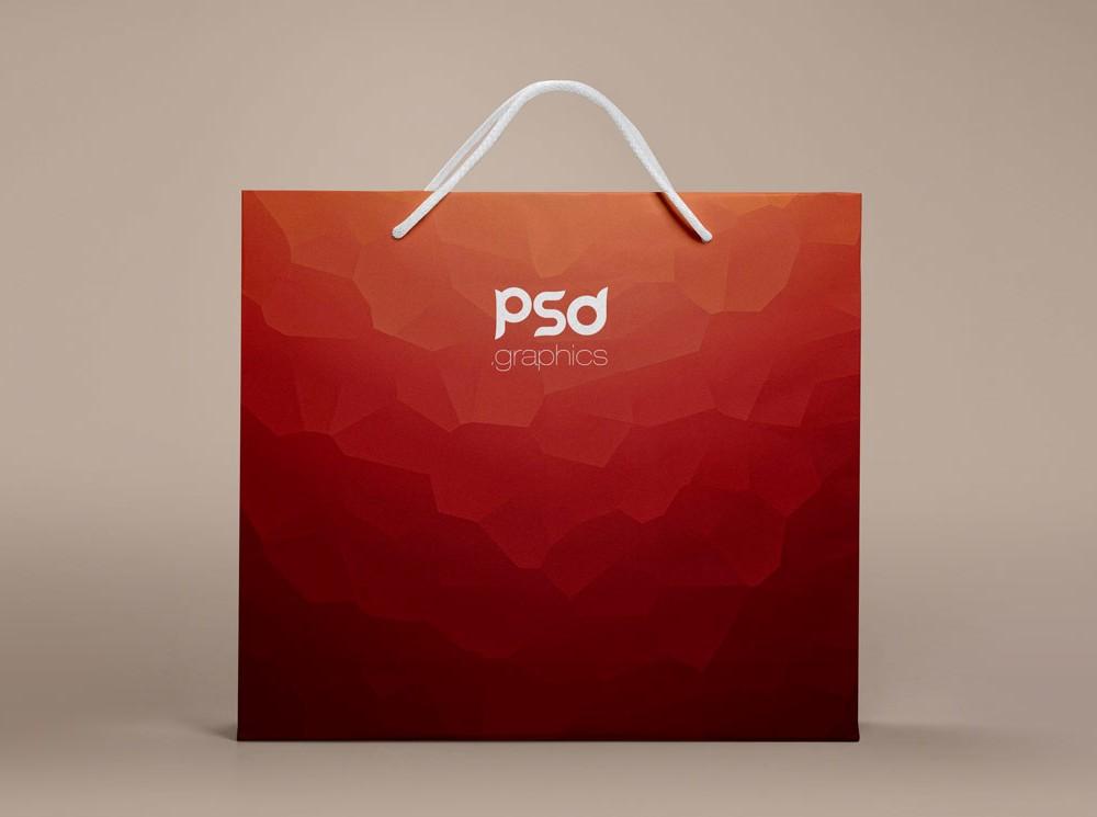 Shopping Paper Bag Mockup Free PSD