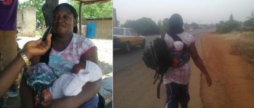 nursing mother trekking buhari
