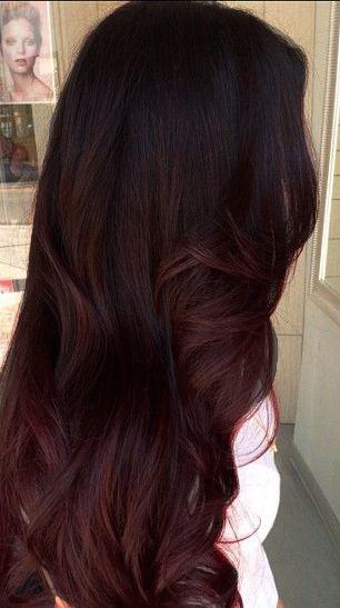 Mahogany hair with caramel highlights 5