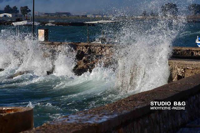 Λιμεναρχείο Ναυπλίου: Θυελλώδεις άνεμοι έως 10 μποφόρ και χιονοπτώσεις