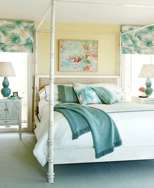 White Poster Canopy Bed