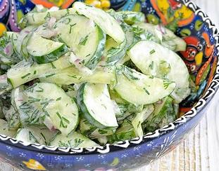 огуречный салат по турецки