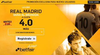 betfair supercuota 4 Real Madrid gana Granada Liga 6 mayo