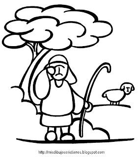 Resultado de imagen de rebañ y pastor dibujo