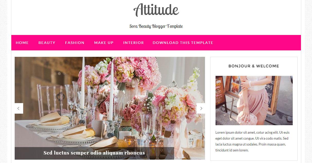 Attitude Responsive Blogger Template