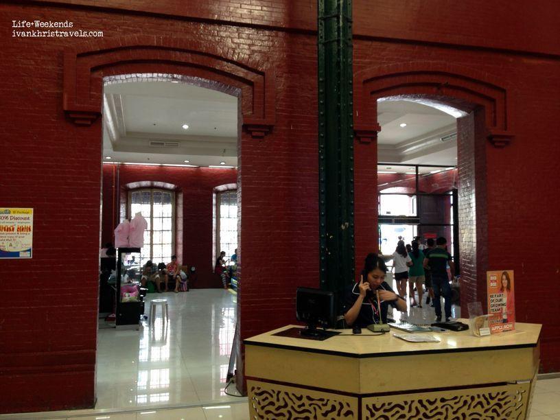 Old brick walls inside Tutuban Center Mall