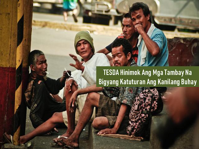 """The Duterte government started a crackdown against loiterers or """"tambays,"""" whom he described as """"potential trouble for the public.""""  The campaign is meant to promote peace and order and strictly implement local ordinances.  The word """"tambay"""" is basically those who do nothing but to stay on the streets as time passes. You can see most of them on sidewalks doing their drinking sessions. Most of them are jobless.  Technical Education and Skills Development Authority (TESDA) urges these people to undergo skills training with them and make their lots of spare time productive rather than staying on the streets waiting for the time to pass by.  When they are done, they can have a skills certificate that they can be proud of  Advertisement        Sponsored Links        Mga ka-TESDA, may mga kakilala ba kayong tambay lamang sa kalsada at walang magawa sa buhay? Kung oo, halina't hikayatin natin silang magsanay ng iba't ibang kurso sa TESDA upang hindi sila matiyempuhan ng mga pulis at maimbitahan sa mga istasyon nito.  Tanong: Magandang araw, ako si Nerita Angeles ng Parañaque City, nais ko sanang magtanong kung ano ang puwedeng training sa aking anak na lalaki? Medyo naiinis na kasi ako at palagi na lang siyang tambay sa barangay namin at natatakot ako na baka mahuli siya ng mga pulis. Gusto ko sana siyang pag-aralin sa TESDA para maging abala siya at kapaki-pakinabang sa mga bagay.  Sagot Mga ka-TESDA, natutuwa tayo dahil naiisip ninyo na TESDA ang magiging susi sa pagbabago ng inyong mga anak na isa umanong tambay. Para sa inyong kaalaman, marami tayong kurso sa TESDA at ang pinakamaikling panahon ng pag-aaral ay aabot lamang ng 11 araw. Samantala, kung instant trabaho naman ang nais ninyo para sa inyong anak pagkatapos gumradweyt sa TESDA, iminumungkahi natin sa inyo na construction courses ang kanyang kunin dahil bukod sa sobrang in-demand ito sa ibang bansa, may proyektong Build Build Build ang ating gobyerno kaya nangangailangan ito ng maraming skilled construction wo"""