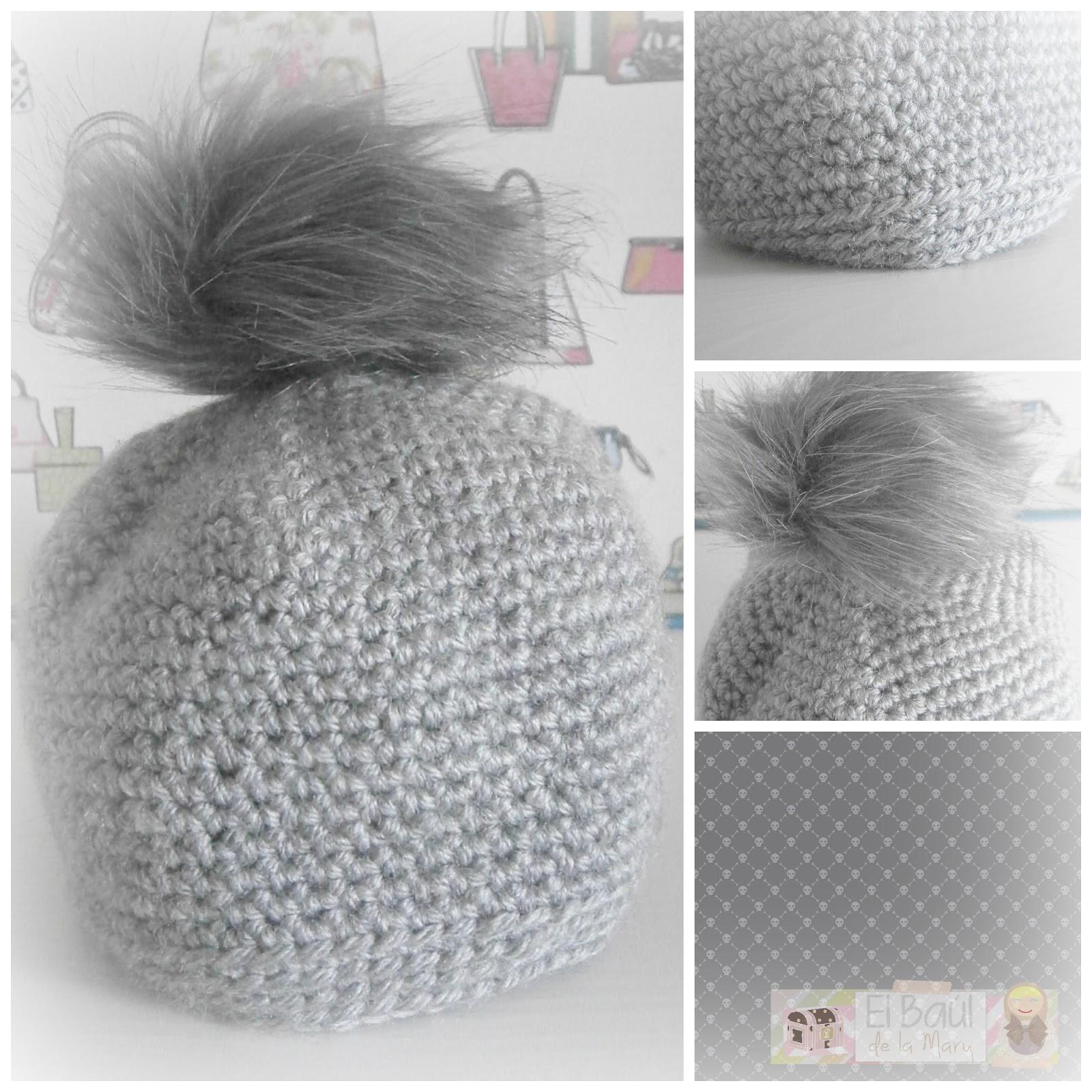 He utilizado lana color gris y ganchillo del 6. Yo lo he hecho tamaño mini  para la baby 186bbd5532e4