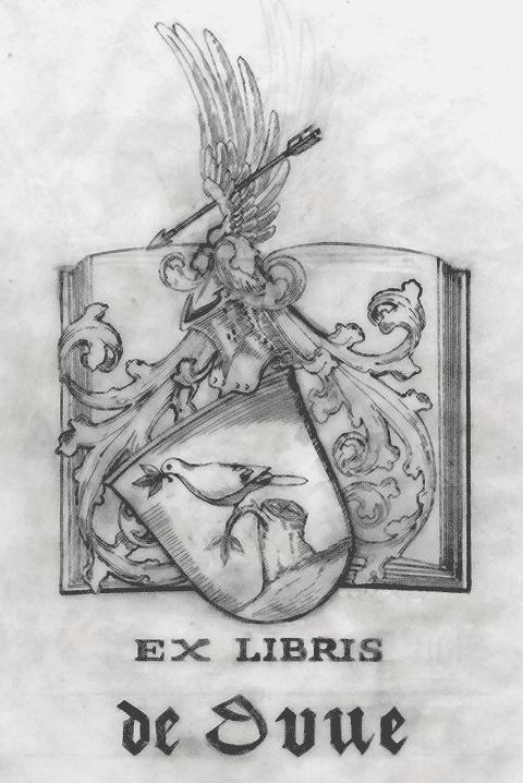 Ex-libris de la Famille de Duve.