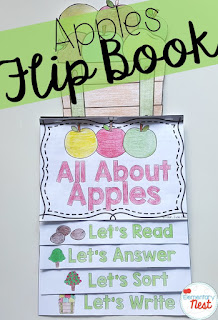 apples reading flip book- September Activities and primary resources plus three FREEBIES- fun ELA, math, and social studies activities for students during the month of September