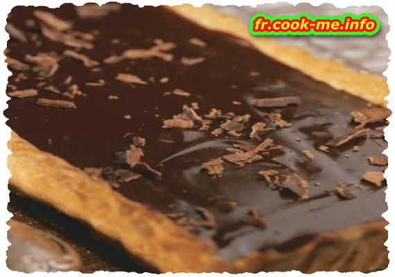 Tarte au chocolat façon caraque