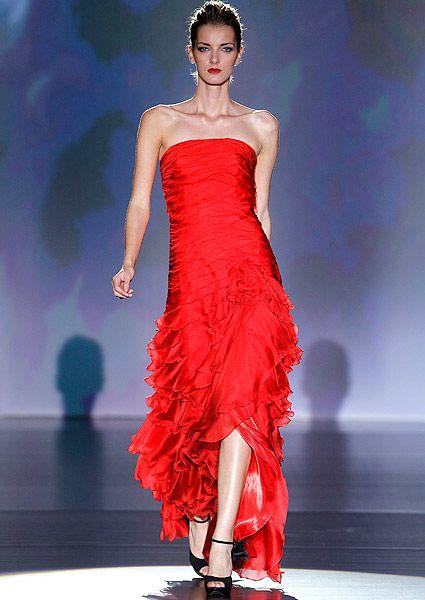 vestidos de boda en rojo