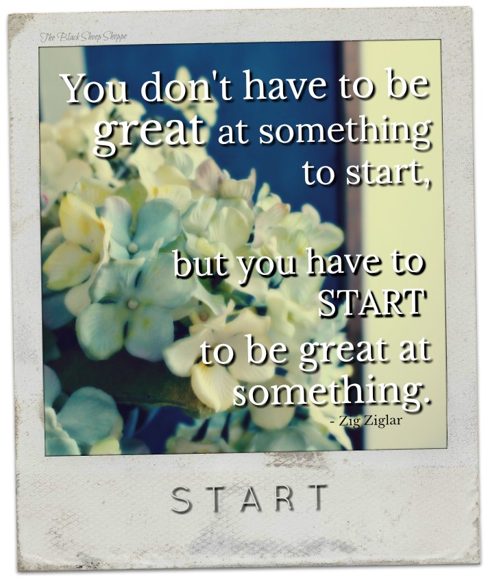 You don't have to be great at something to start, but you have to START to be great at something.