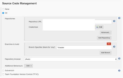Jenkins Source Code Management