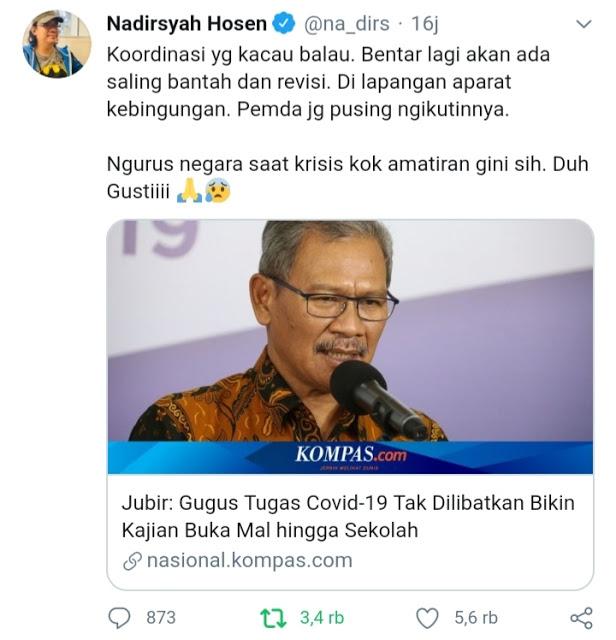 Pendukung Jokowi Nadirsyah Hosen: Ngurus Negara Saat Krisis Kok Amatiran Gini Sih, Duh Gustiiii