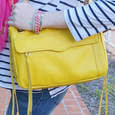 Away From Blue Blogger Rebecca Minkoff yellow swing bag