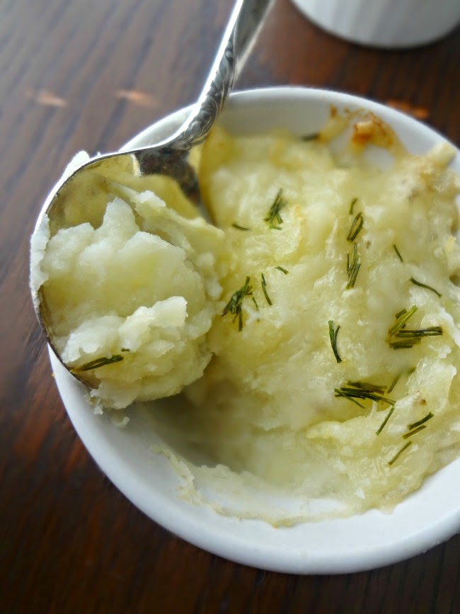 Individual Baked Mashed Potatoes