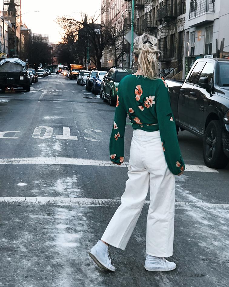 @heleneisfor, fashion over reason, aritzia wilfred floral blouse, vans high tops, vansgirls, wyeth eyewear