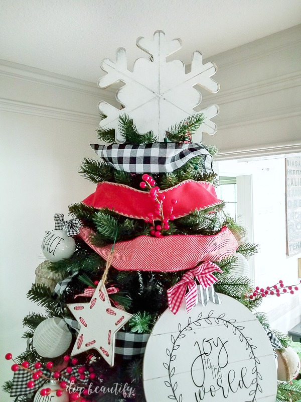 farmhouse Christmas tree topper