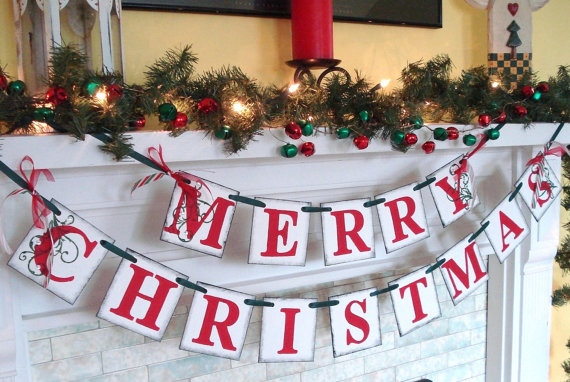 christmas banner merry decoration xmas mantel decorations decorating ideas lizforeverrr