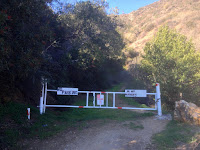 Trailhead for 2N28 Silver Fish Fire Road near Morris Dam on Highway 39, Angeles National Forest