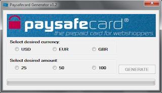 paysafecard nummer hack