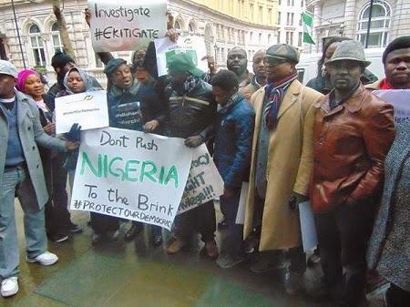 nigerians london match buhari