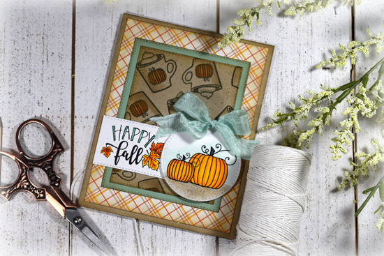 Card by Julee Tilman using Autumn Leaves and Everything Nice from Verve Stamps
