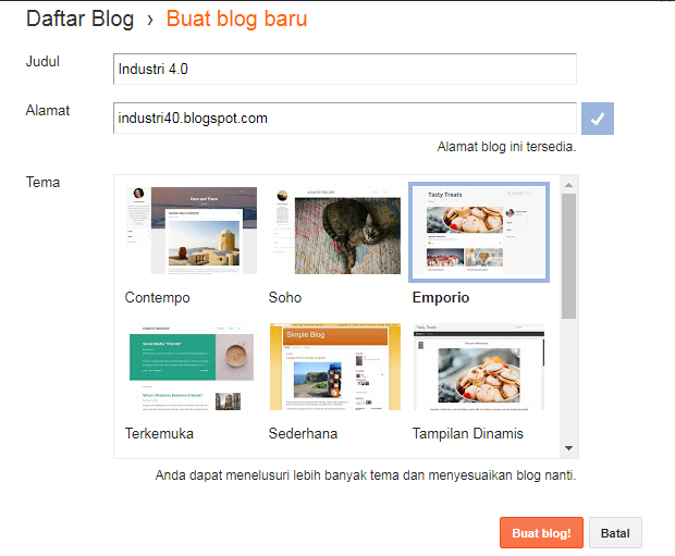 Subdomain Blogspot