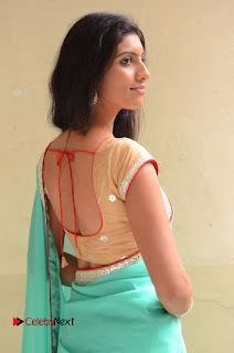 Actress Srilekha Pictures in Green Saree  0024.JPG