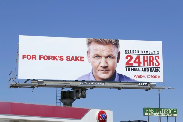 Gordon Ramsey 24 Hrs Hell Back billboard