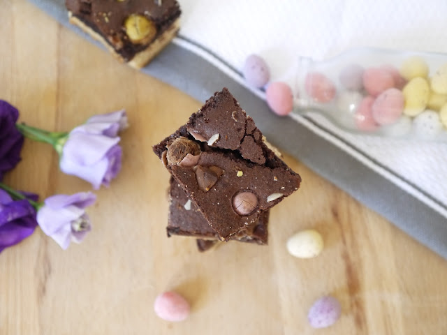 Mini Egg Easter Brookies The Betty Stamp Baking Recipe