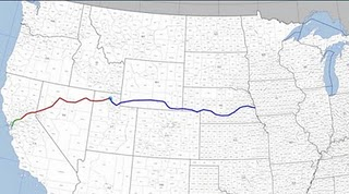where did the first cross country railroad meet in ut